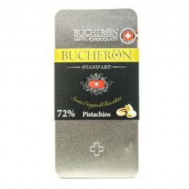 BUCHERON Горький шоколад с фисташками 100гр.-10 (шт.) Железная упаковка