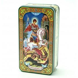 Чай Черный Георгий Победоносец 100гр. Ж/Б Шкатулка