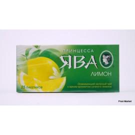 Чай зеленый Принцесса Ява. Лимон 25 пакетов