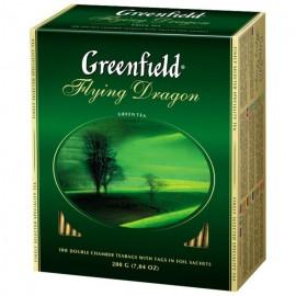 Чай Зеленый Гринфилд Flying Dragon 100 пакетов
