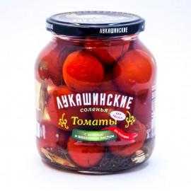 """Томаты """"Лукашинские"""" солёные по-казацки, с вишневым листом  670гр.-6 (шт.)"""