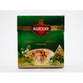 Чай зелёный МАЙСКИЙ Освежающая Мята 20 пирамидок