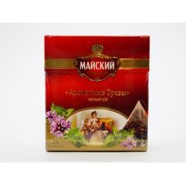 Чай чёрный МАЙСКИЙ Ароматные Травы 20 пирамидок