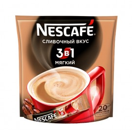 Кофе Нескафе 3 в 1  Мягкий , 20 стиков