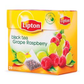 Чай чёрный Липтон Grape Raspberry  20 пирамидок