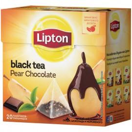 Чай чёрный Липтон Pear Chocolate  20 пирамидок