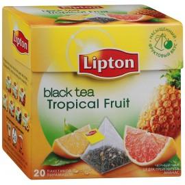 Чай чёрный Липтон Tropical Fruit  20 пирамидок