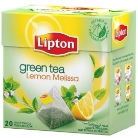 Чай зелёный  Липтон Lemon Melissa  20 пирамидок