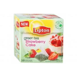 Чай зелёный  Липтон Strawberry Cake  20 пирамидок