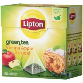 Чай зелёный  Липтон Vanilla Aplle Strudel  20 пирамидок