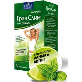 Фито чай Супер Слим зелёный со стевией Лайм Мята 30 пакетиков