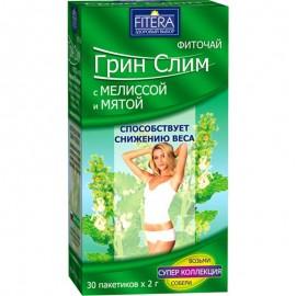 Фито чай Супер Слим зелёный Мелиса Мята 30 пакетиков