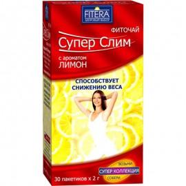 Фито чай Супер Слим чёрный с лимоном 30 пакетиков