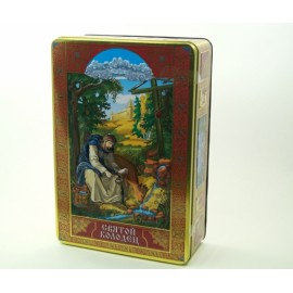 Чайный набор БЛАГОВЕСТ чай чёрный+зеленый Святой Колодец 400гр. Ж/Б Ларец
