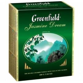 Чай Зеленый Гринфилд Jasmine Dream 100 пакетов