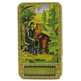"""Чёрный чай """"Сергий Радонежский и медведь"""", 100г"""
