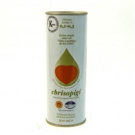 Масло оливковое CHRISOPIGI  нерафинированное  500мл.-12 (шт.)   Ж/Б