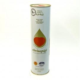 Масло оливковое CHRISOPIGI  нерафинированное  1литр-12 (шт.)  Ж/Б