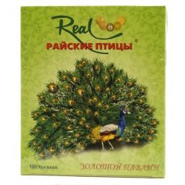 """Зеленый чай Риал """"Райские птицы. Золотой павлин"""", 100 пакетиков"""