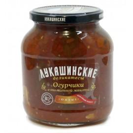 """Огурцы в томатной мякоти """"Южные"""" Лукашинские,  670 г"""