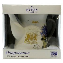 """Черный чай ХАЙТОН в керамическом чайнике """"Очарование"""", 80 г"""