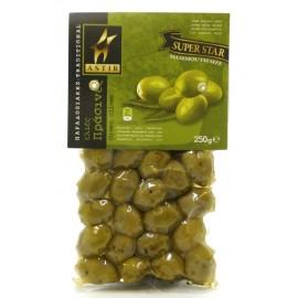 Оливки зеленые с косточкой АСТИР, 250 г