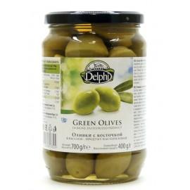 Оливки с косточкой в рассоле ДЕЛФИ, 700 г