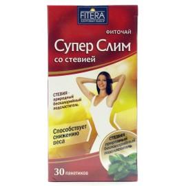 Фиточай ФИТЕРА Супер Слим со стевией, 30 пакетиков