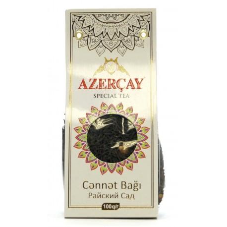 """Черный чай АЗЕРЧАЙ """"Райский сад"""" с яблоком и ароматом айвы, 100 г"""