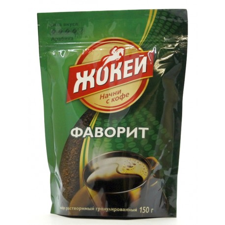 """Кофе растворимый ЖОКЕЙ """"Фаворит"""", 150 г"""