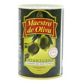 Оливки зеленые гигантские без косточки МАЭСТРО ДЕ ОЛИВА, 420 г