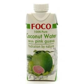 Кокосовая вода с розовой гуавой ФОКО, 330 мл