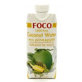 Кокосовая вода с соком ананаса ФОКО, 330 мл