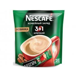 Напиток кофейный растворимый Нескафе 3 в 1 . Крепкий. 20 пакетиков