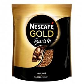 Кофе НЕСКАФЕ Голд Бариста молотый в растворимом 75гр.