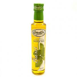 Масло оливковое Costa d'Oro нерафинированное высшего качества Экстраверджине со вкусом и ароматом базилика, 250мл
