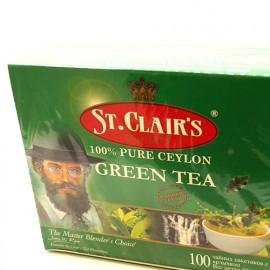 Чай зеленый St.Clairs Green Tea, 100 пакетиков