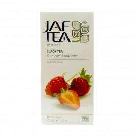 Чай черный Jaf Tea Strawberry & Raspberry 25 пакетиков