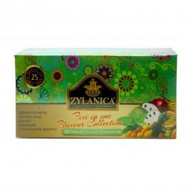 Чай зеленый Zylanica Ceylon Premium Green Tea Flavor Collection 25 пакетиков