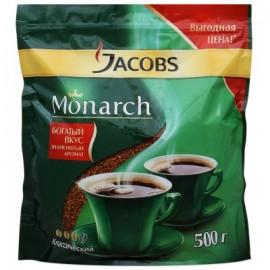 Кофе Якобс Монарх 500гр. Растворимый Сублимированный . Пакет