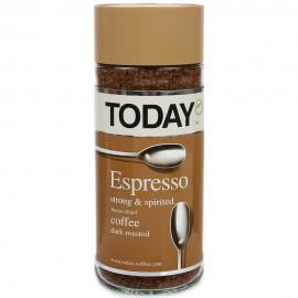 Кофе TODAY Эспрессо 95гр. Растворимый Сублимированный