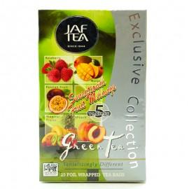 Чай зеленый ассорти Sensational Fruit Melange Jaf Tea 20 пакетиков