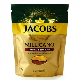 Кофе молотый Millicano Crema Espresso Jacobs 75г