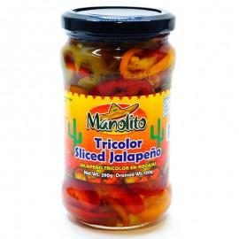 Перец Халапеньо трехцветный Manolito 290г