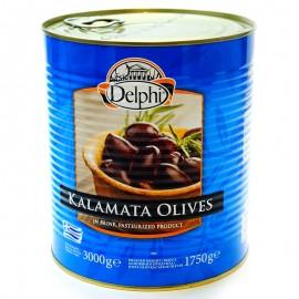 Маслины каламата с косточкой Delphi 3000г
