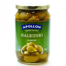 Оливки с миндалем Apollon Halkidiki 720г