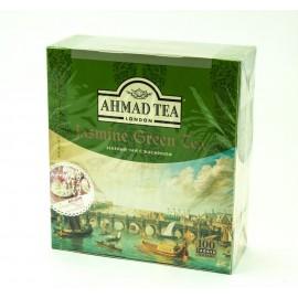 Чай АХМАД Зеленый  с жасмином 100 пакетов
