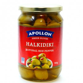 Оливки с перцем Apollon Halkidiki 720г