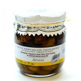 Оливки таджасские без косточки в оливковом масле Anfosso 185г