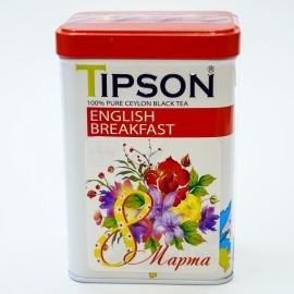 Черный чай Tipson English Breakfast, 85г